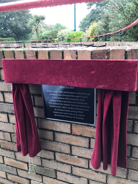 UNVEILING OF PLAQUES COMMEMORATING JACKIE TAYLOR